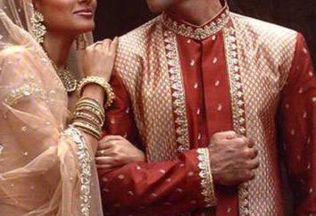 Indische Kleidung – männlich und weiblich. Indian Nationaltracht