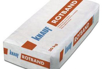 """Gesso """"Rotband"""": instruções de utilização. Como gesso das paredes """"Rotband""""?"""