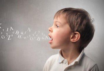 Le son de la parole pour les enfants d'âge préscolaire