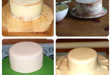 Preparação de creme sob bolo mastique