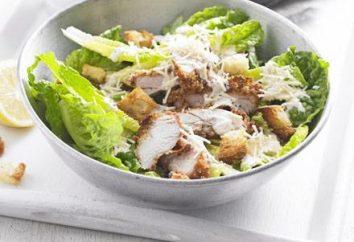 Salade César au poulet et chou chinois: la recette et l'histoire