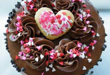 Gâteau pour la Saint Valentin: une étape recette pas à pas. Gâteaux pour la Saint Valentin