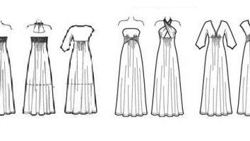 Muster lange Kleid. Nähen langes Kleid mit ihren eigenen Händen