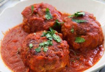 Sauce tomate pour les boulettes de viande: méthode de cuisson