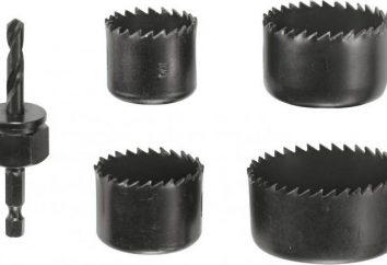 anneau de scie (couronne) sur le bois, le béton, le métal: la taille, la netteté