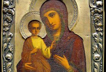 Strzegący bramy Athos klasztoru ikoną Matki Bożej Iver