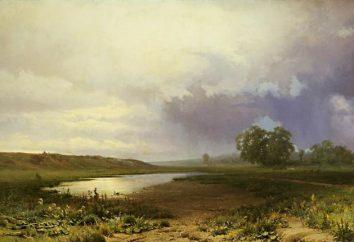"""Pisanie na obrazie """"mokre łąki"""" F. Wasiljewa"""