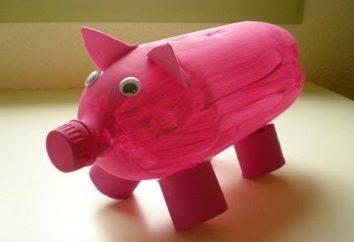 Decoração simples para o jardim – porcos de garrafas de plástico. Como fazer?