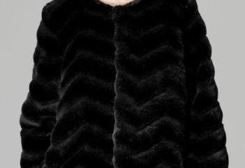 casaco de pele de vison peles artificiais em: fashion tendência em todos os momentos