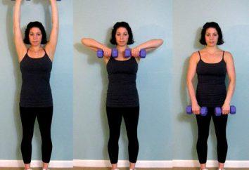 Effektive Übungen zum Abnehmen der Schultern und Arme
