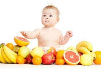 Introdução de alimentos complementares na alimentação artificial: uma tabela (por mês)