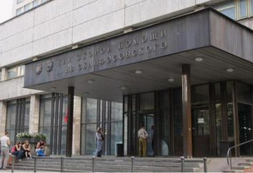 Sklifosovsky Research Institute (Moskwa): lista usług, lekarze, wydziałów, jak uzyskać opinie