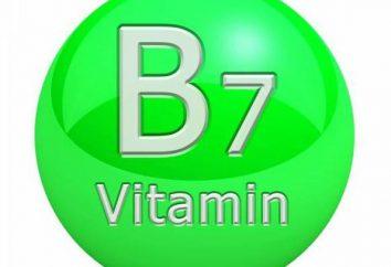 B7 (vitamine) des propriétés utiles, qui contient une application particulière et