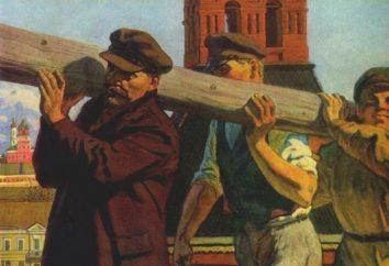 Lenin com o log em um voluntário: Descrição do evento, fotos, fatos interessantes