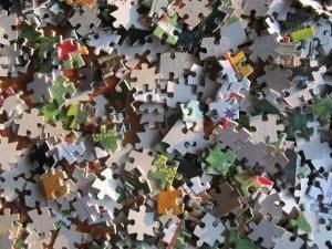 A maior quebra-cabeça: a quantidade de detalhes a forma de recolher. puzzles complexos