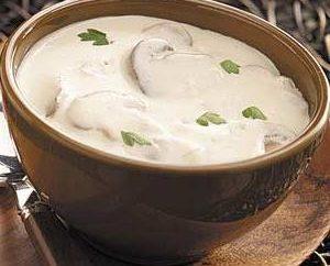 Velouté de champignons: recette de la crème