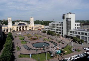 Nowoczesny dworzec kolejowy. Charkow Ukraina jako jednostki transportowej