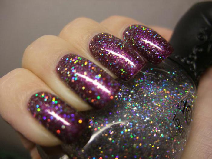 esmaltes de uñas holográficas