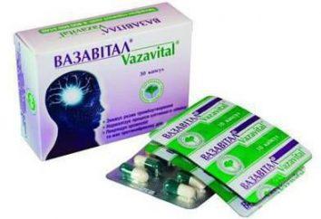 Le médicament « Vazavital »: mode d'emploi, description, composition et commentaires