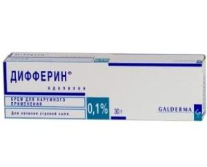"preparação Dermaprotektorny ""Differin"": Instruções para uso"