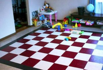 sol souple pour les chambres d'enfants: le confort et la sécurité
