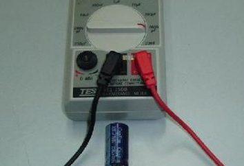 Kondensatory miernika z ich rąk. Opis i konfiguracja urządzenia