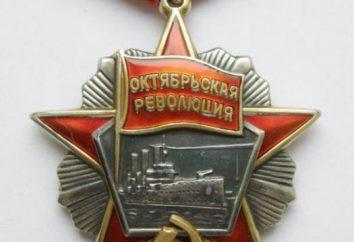 Order Rewolucji Październikowej: opis, wykaz odbiorców, koszt