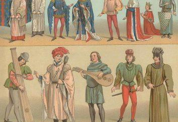 Ropa medieval (foto). ropa gótica medieval