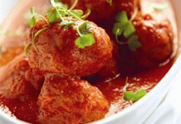 Boulettes de viande en sauce au four. Comment faire cuire les boulettes de viande à la sauce tomate ou crème?