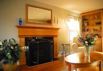 Uno specchio piano nella parte interna del salotto
