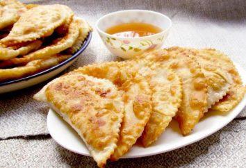 Cheburek: refeições calóricas com recheios diferentes