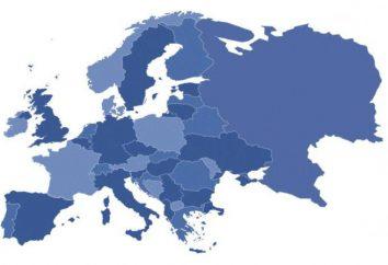Podregiony Europy. Zasada podziału Europy na podregiony