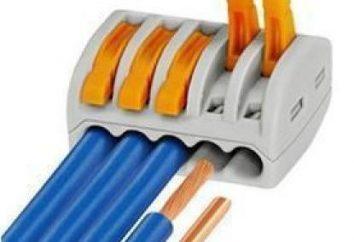 Reihenklemmen für Verdrahtungsarbeiten einfacher Elektriker