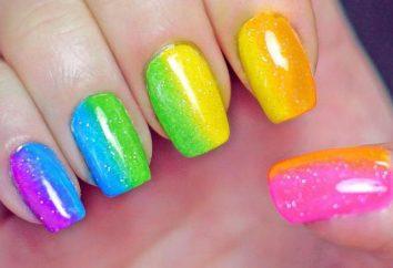 Arcobaleno manicure: istruzioni passo passo, le foto
