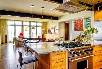Séjour avec cuisine ouverte – de draft
