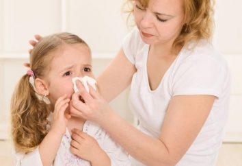 Naso che cola nei bambini. Le regole di base del trattamento