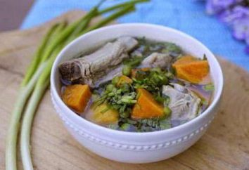 Homemade zupa z wieprzowiny. Receptura z ziemniaków