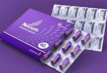 """Droga """"Nexium"""": recensioni e applicazione"""