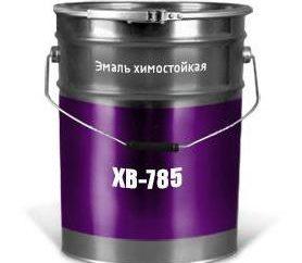 Esmalte XB-785. Especificações e propósito