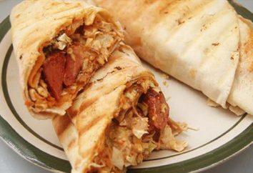 Shawarma con salsiccia a casa