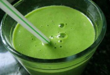 Grüne Smoothies: das Rezept mit einem Foto