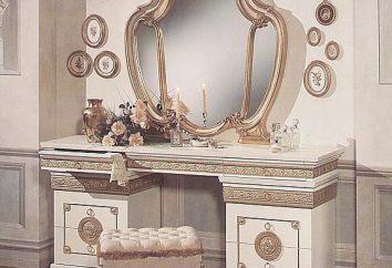 Toaletka dla sypialni: miejsce dla siebie