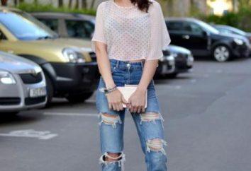 Que porter avec des jeans déchirés. Quel type de chaussures à porter des jeans déchirés
