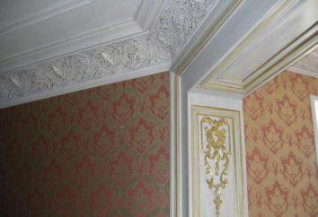 plinto soffitto: tipologie, caratteristiche e raccomandazioni di installazione