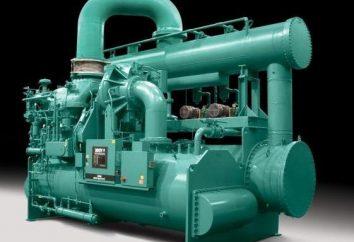 Máquinas de refrigeração: o princípio da operação, dispositivo e aplicação