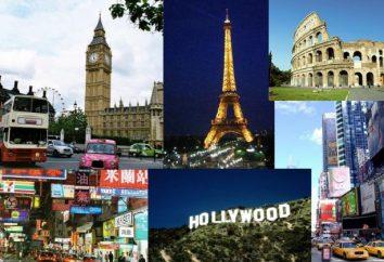 Wszystkie stolice krajów na kontynentach świata
