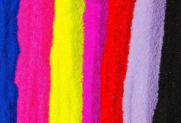 Come semola vernice di DIY? Tutti i metodi di fabbricazione alternativi, sabbia colorata