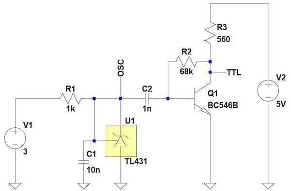 Zener TL431: Schaltplan