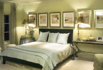 La combinazione di colori all'interno della camera da letto: idee, foto