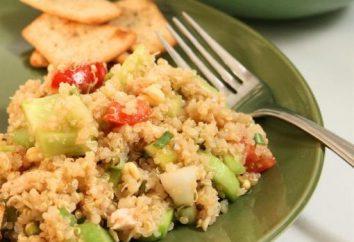 Wie man einen Salat mit einem Cracker vorbereitet